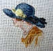 Serinde – Woman with Blue Hat Miniature